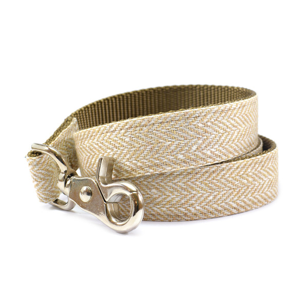 04 sand tweedherringbone leash
