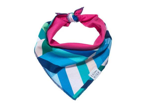 Sea glass bandana tied