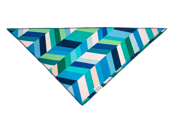 Sea glass dog bandana