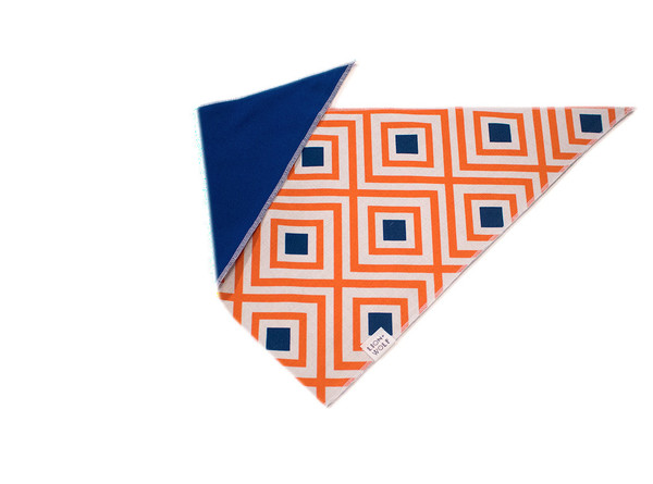 Creamsicle dog bandana reverse