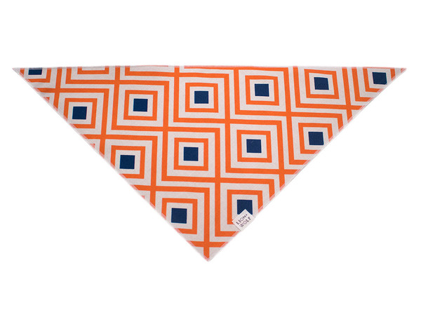 Creamsicle dog bandana