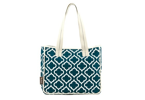 P.l.a.y. moroccan tote bag navy blue 1