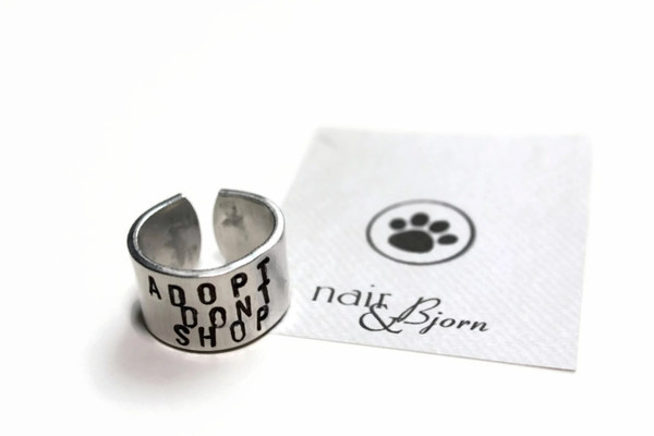 Adopt dont shop unisex ring
