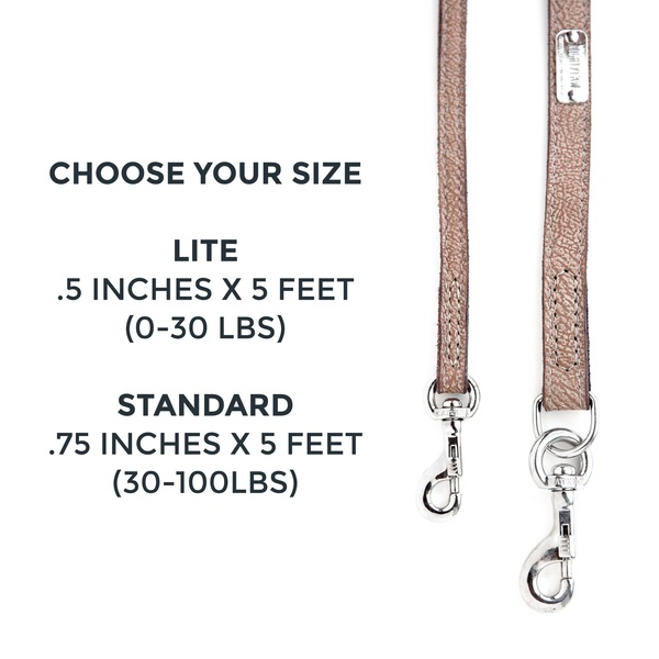 Leather leash choose your size