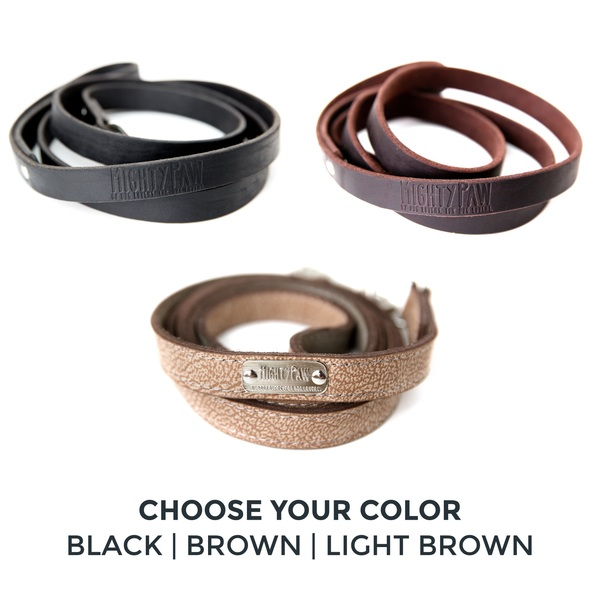 Leather leash choose your color