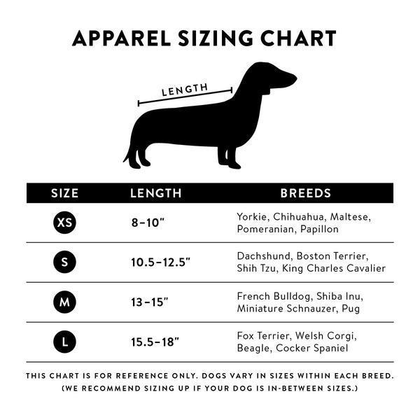Apparel sizing chart bauhound grande