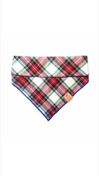 Bowaddo red tartan flannel bandana the dapper dog box