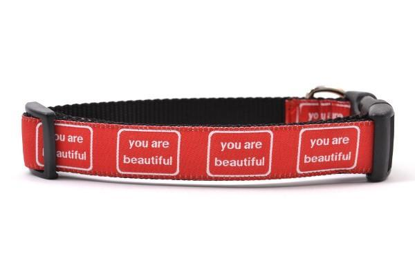 You are beautiful medium collar red and white 800x