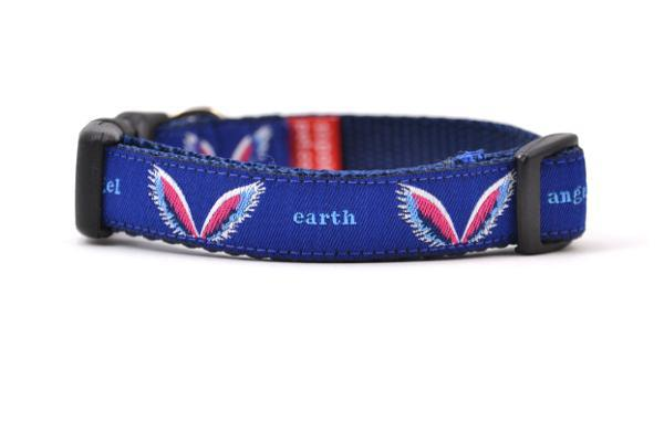 Colette miller angel wings dog collar navy xs 800x