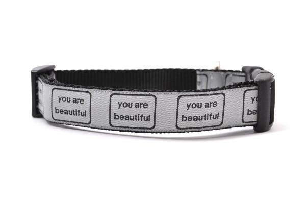 You are beautiful medium collar gray and black 800x