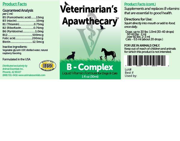B complex liquid vitamins ingredients