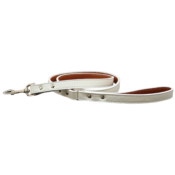 16300 16349 auburn leathercrafters tuscany leash white w 72