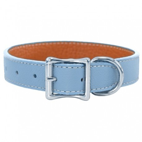 Auburn leathercrafters tuscany collars leashes light blue