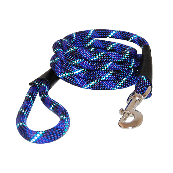52050 52054 auburn leathercrafters reflective rope leash blue 72