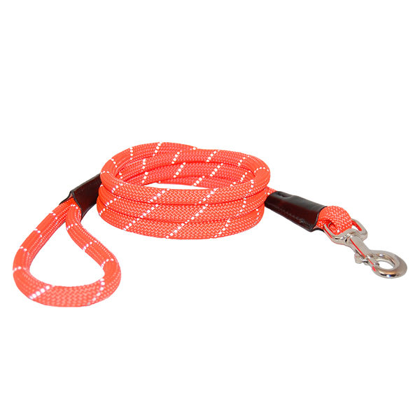 52050 52054 auburn leathercrafters reflective leash orange 72