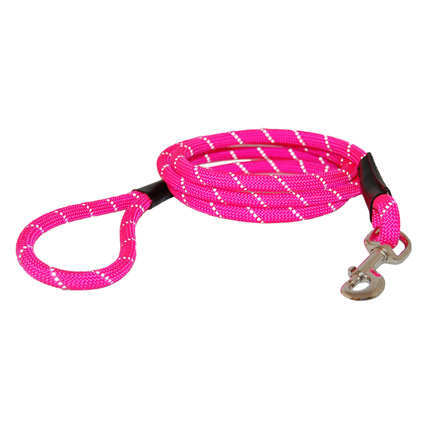52050 52054 auburn leathercrafters reflective rope leash pink after 72