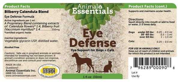 Eye defense supplement back