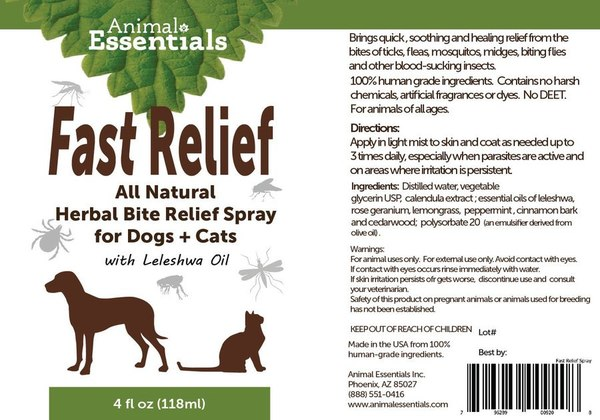 Fast relief spray back