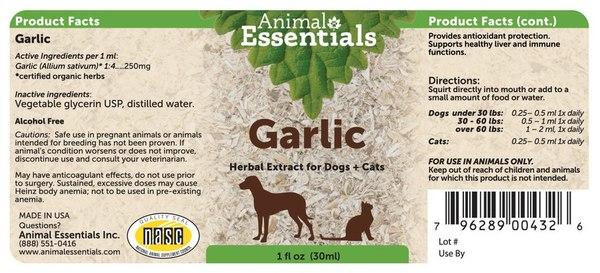 Garlic supplement back