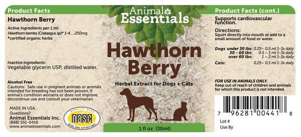 Hawthorn berry back