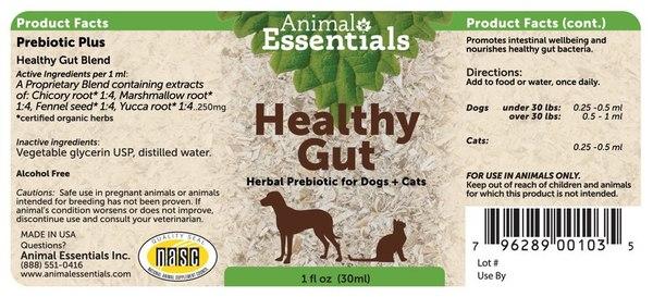 Healthy gut supplement back