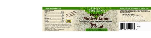 Herbal multi vitamin back