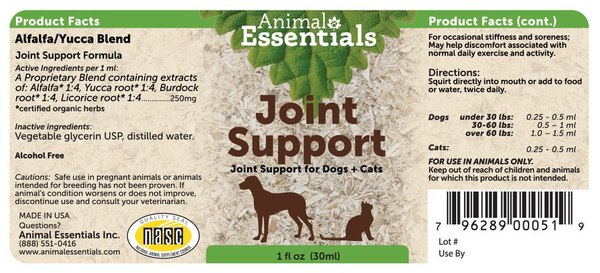 Joint support supplement back