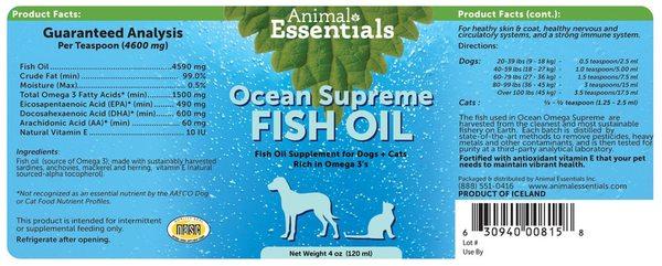 Ocean omega fish oil back