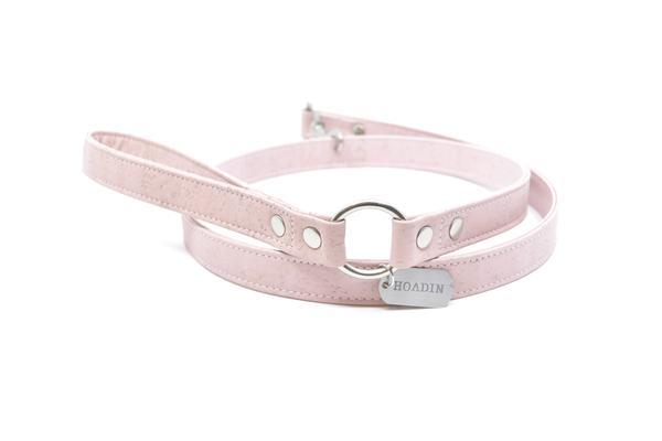Pink cork leash 1 sm 600x