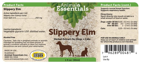 Slippery elm supplement back