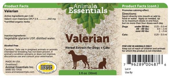 Valerian supplement back