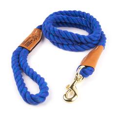 Cotton rope leash nautical blue