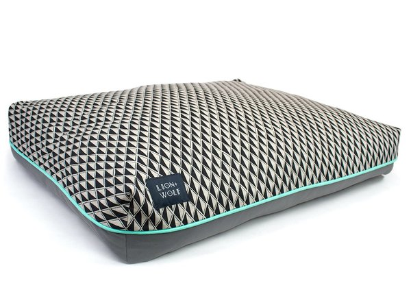 Geometric dog bed