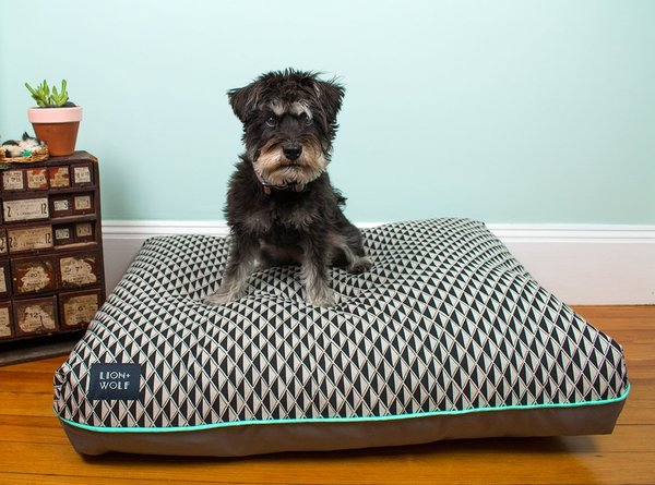 Diamond print dog bed mint