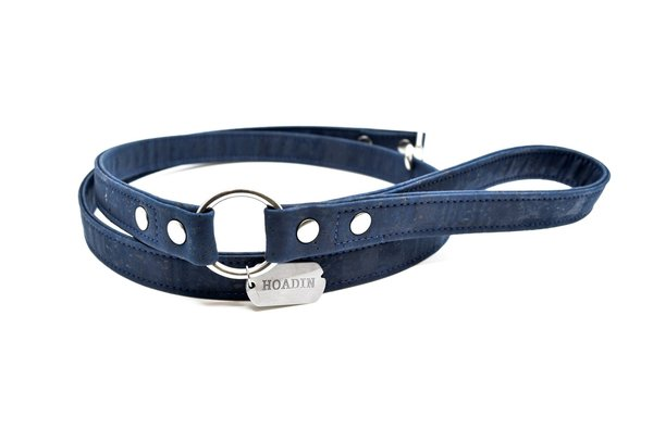 Navy cork dog leash x 1600x