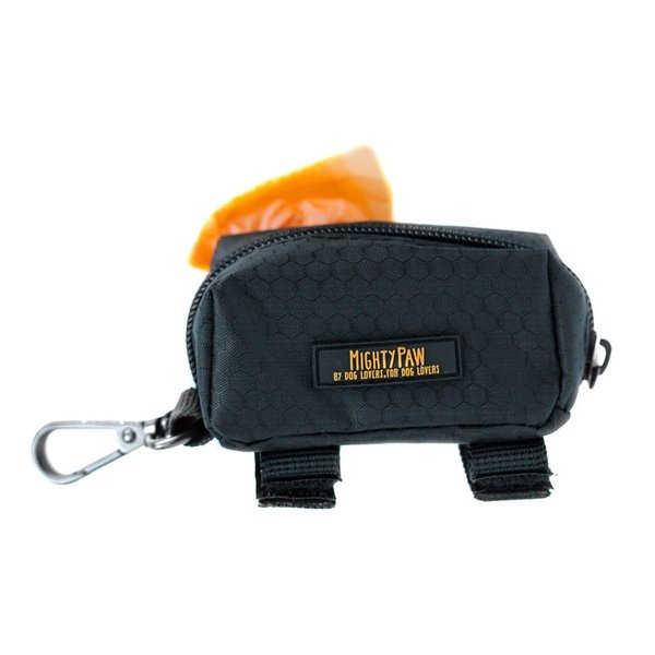 31 black padded dog collar  leash and poop bag holder %282%29