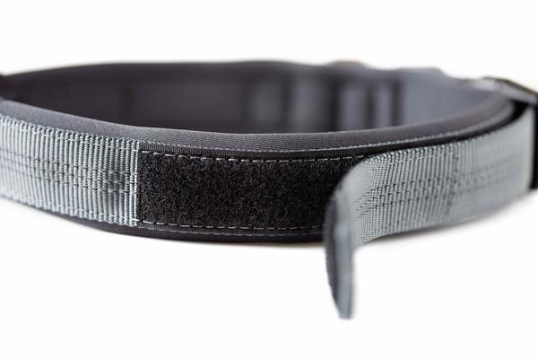 25 grey padded dog collar %282%29