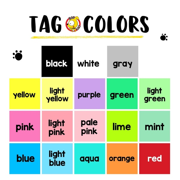Tag colors  57388.1572007614
