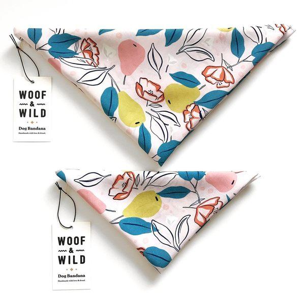 Perry modern dog bandana woof wild 292225 1500x