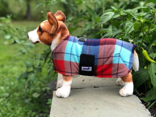 Political plaid fleece coat